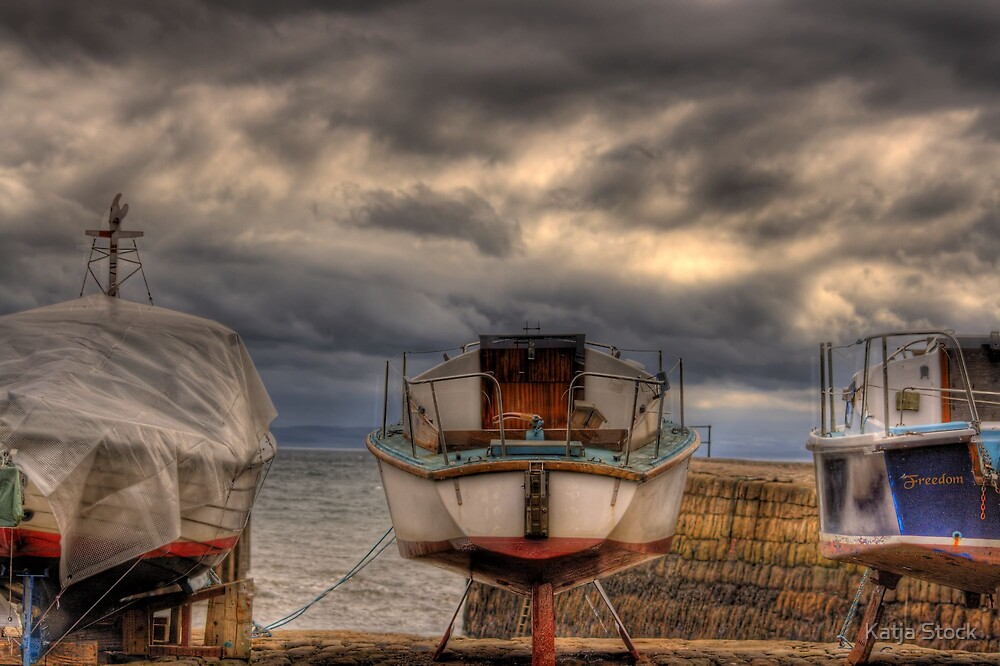 Impressions from Dysart Harbour, Scotland by Katja Stock