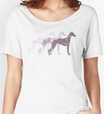 Sighthounds in the mist Women's Relaxed Fit T-Shirt