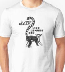 Ich mag Lemuren wirklich, OK? Lustiges T-Shirt Slim Fit T-Shirt