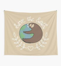 Save The Earth Sloth Wandbehang