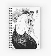 "HD ""The Peacock Skirt"" from ""Salomé"" by Aubrey Beardsley Spiral Notebook"