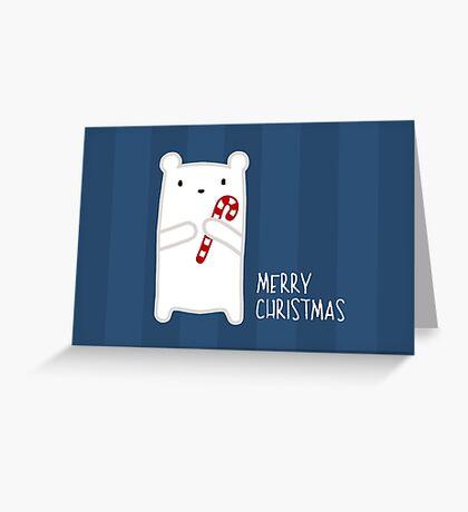 Candy Cane Bear Greeting Card