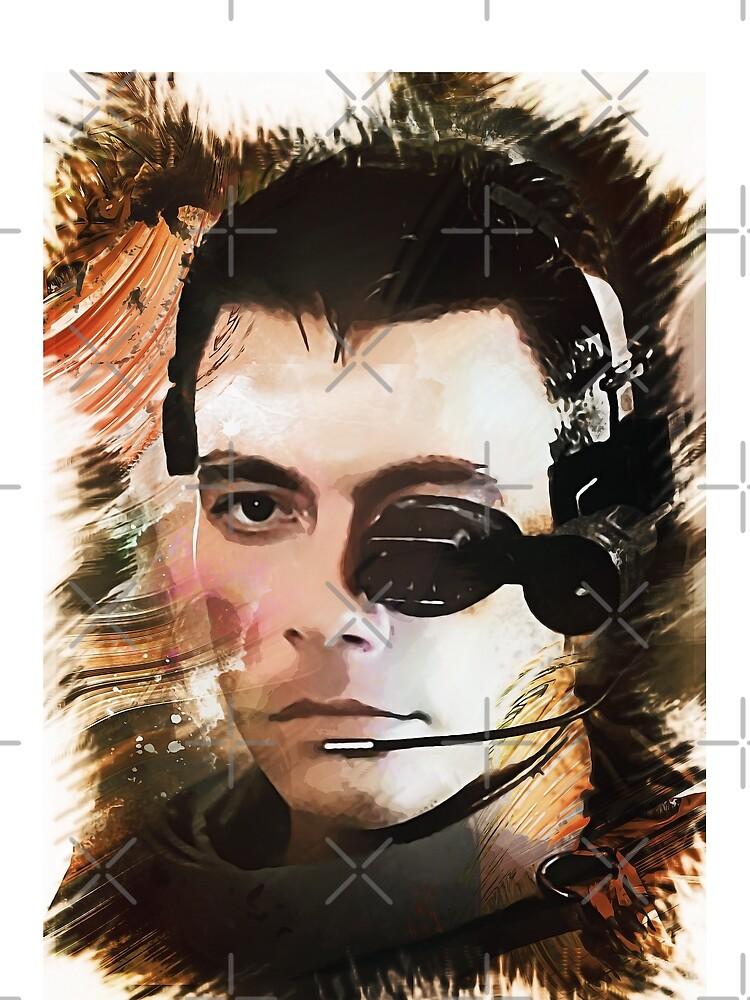 Soldado universal - Jean Claude Van Damme - Obra de arte digital personalizada de Naumovski