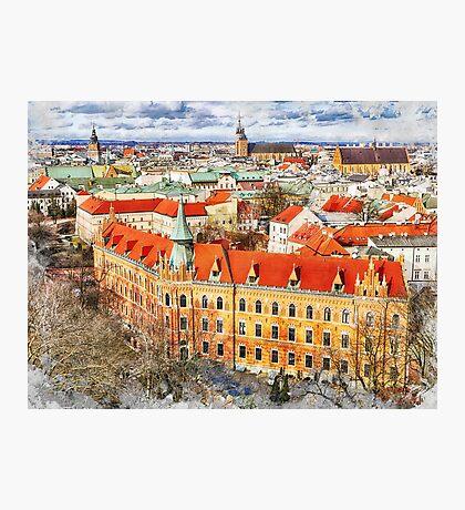 Cracow art 14 #cracow #krakow #city Photographic Print