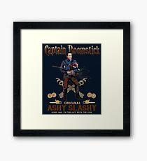 Captain Boomstick (Puppet Version) Framed Print
