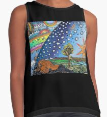 Flammarion Woodcut Flat Earth Design Sleeveless Top
