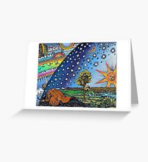 Flammarion Woodcut Flat Earth Design Greeting Card