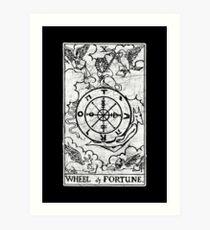 Wheel of Fortune Tarot Card - Major Arcana - fortune telling - occult Art Print