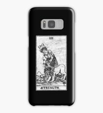 Strength Tarot Card - Major Arcana - fortune telling - occult Samsung Galaxy Case/Skin
