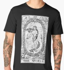 The World Tarot Card - Major Arcana - fortune telling - occult Men's Premium T-Shirt
