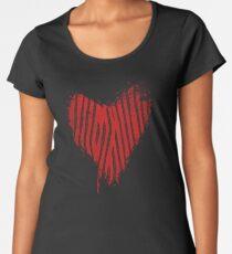 Grunge Heart - Love Valentine Women's Premium T-Shirt