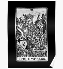 Die Kaiserin Tarot Card - Major Arcana - Wahrsagerei - okkult Poster
