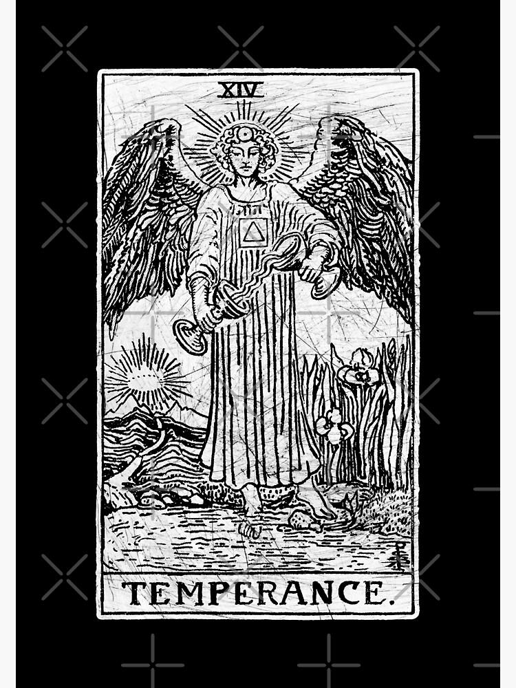 Temperance Tarot Card - Major Arcana - fortune telling - occult | Poster