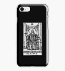 Justice Tarot Card - Major Arcana - Fortune Telling - Occult iPhone Case/Skin