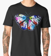 Splatterfly Paint Butterfly  Men's Premium T-Shirt
