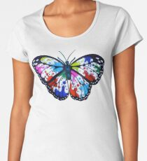 Splatterfly Paint Butterfly  Women's Premium T-Shirt