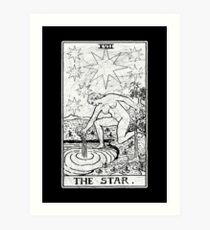The Star Tarot Card - Major Arcana - fortune telling - occult Art Print