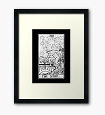 The Star Tarot Card - Major Arcana - fortune telling - occult Framed Print