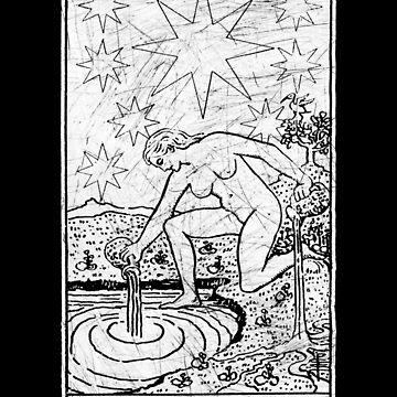 La Carta de Tarot de la Estrella - Arcanos Mayores - adivinación - oculta de createdezign