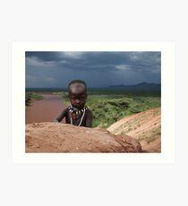 KARO BABY - ETHIOPIA Art Print