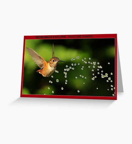 TINY BUBBLES...J Greeting Card