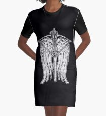Angel Wings and Crossbow (Dirty) Graphic T-Shirt Dress