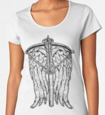 Angel Wings and Crossbow (Dirty) Women's Premium T-Shirt