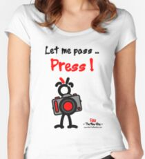 Red - The New Guy - Let me pass .. Press ! Women's Fitted Scoop T-Shirt