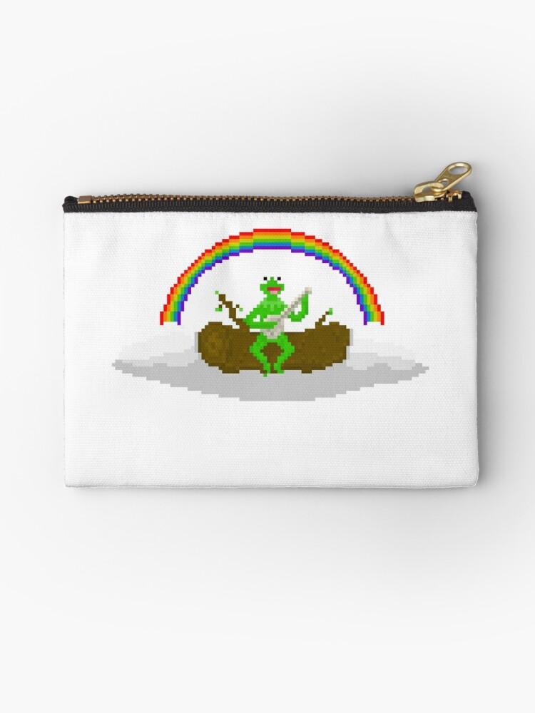 Kermit The Frog Pixel Art Studio Pouches By Pixelshorts Redbubble