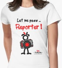 Red - The New Guy - Let me pass .. Reporter ! Women's Fitted T-Shirt