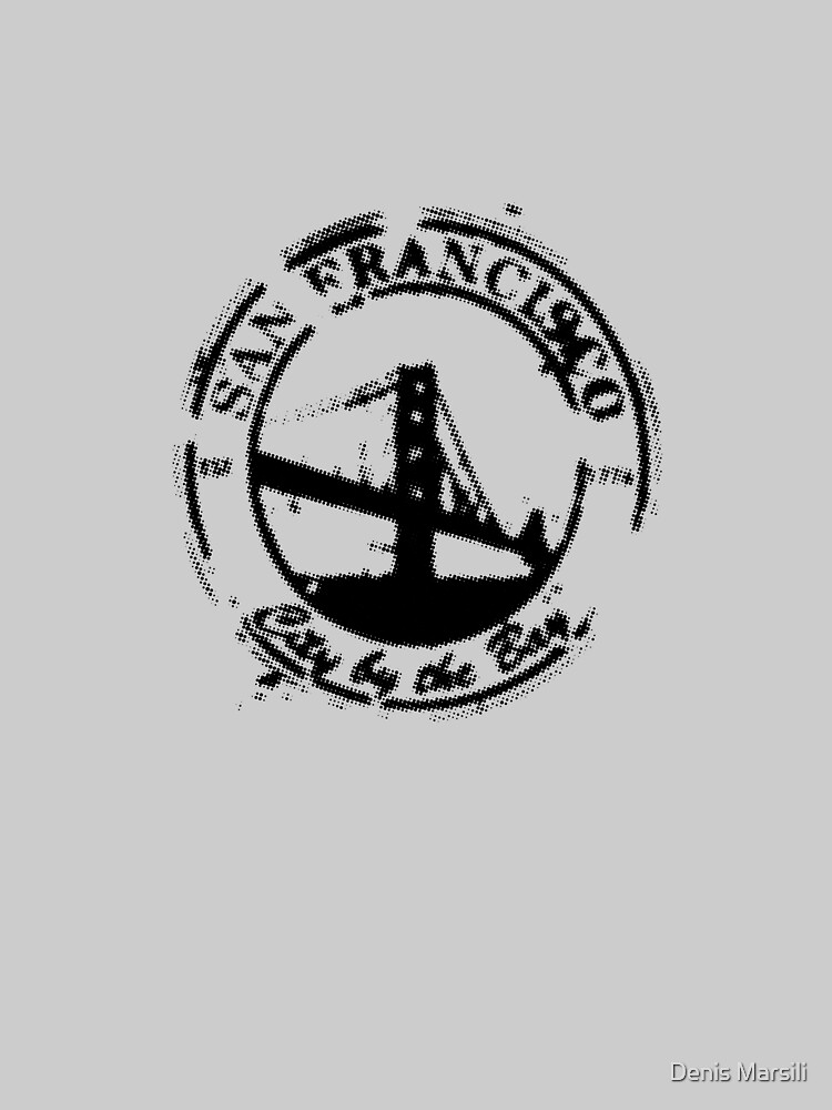 San Francisco - City By The Bay - Grunge Vintage Retro T-Shirt by ddtk