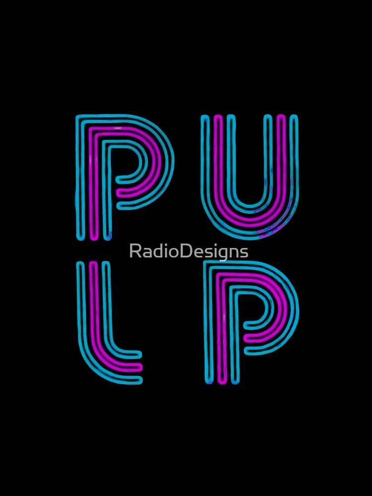 Pulp - Logotipo de neón de RadioDesigns