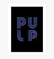 Pulp - Neon Logo Art Print