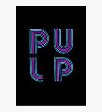Pulp - Neon Logo Photographic Print
