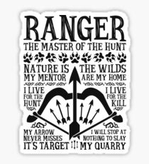 RANGER, The Master of the Hunt - Dungeons & Dragons (Black Text) Sticker