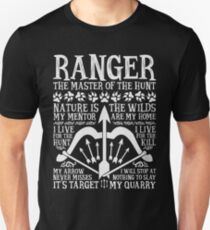 RANGER, The Master of the Hunt - Dungeons & Dragons (White Text) T-Shirt