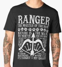 RANGER, The Master of the Hunt - Dungeons & Dragons (White Text) Men's Premium T-Shirt