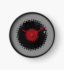 Grunge Vinyl Records Retro Vintage 50's Style Clock