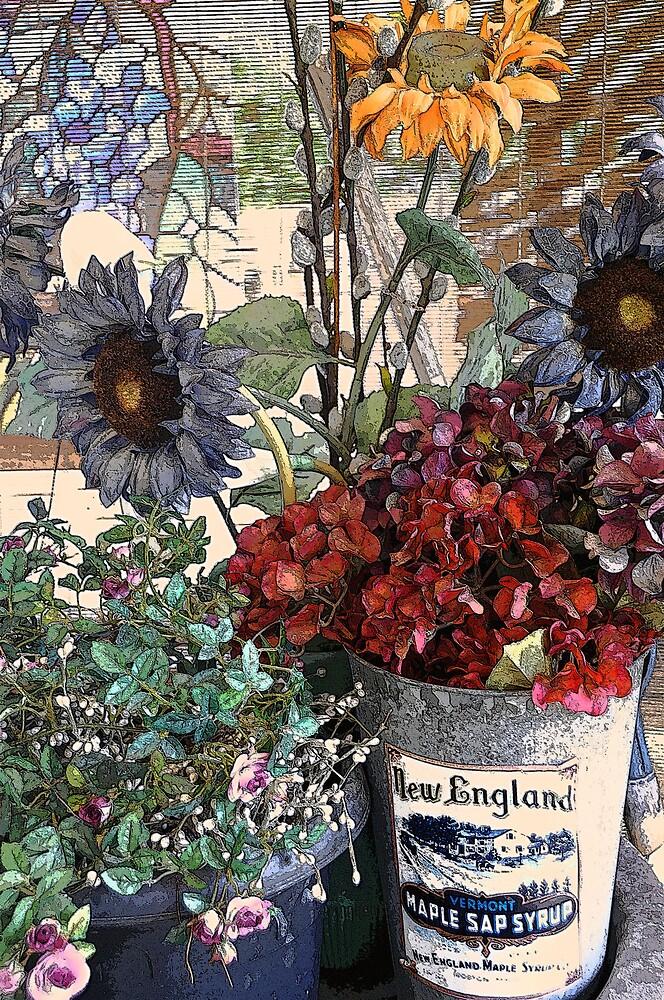 Cozy Floral Porch by LorrieM