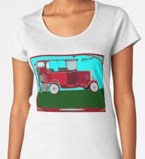 A Man and his Vintage Car Women's Premium T-Shirt