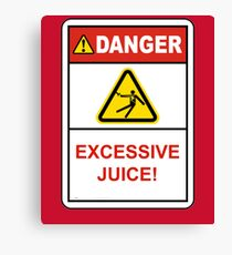 Danger Excessive Juice! Maryland College Football Canvas Print