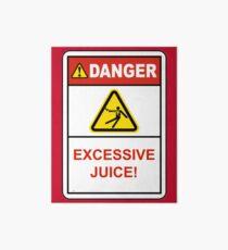 Danger Excessive Juice! Maryland College Football Art Board
