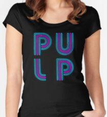 Zellstoff - Neon-Logo Tailliertes Rundhals-Shirt