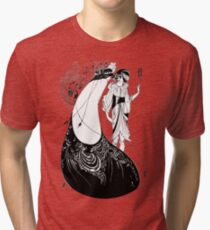 "HD ""The Peacock Skirt"" from ""Salomé"" by Aubrey Beardsley Tri-blend T-Shirt"