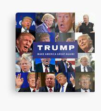 MAKE AMERICA DERP AGAIN! PRESIDENT TRUMP LOOKING LIKE A FOOL! Metal Print