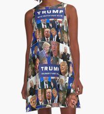 MAKE AMERICA DERP AGAIN! PRESIDENT TRUMP LOOKING LIKE A FOOL! A-Line Dress