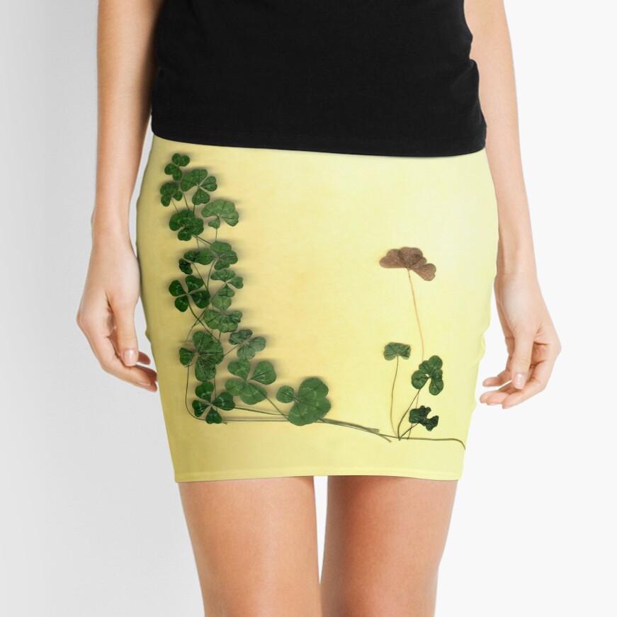 Golden Clover Dreams Mini Skirt Front