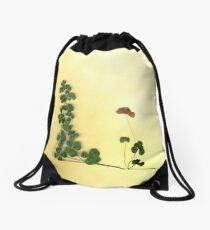 Golden Clover Dreams Drawstring Bag