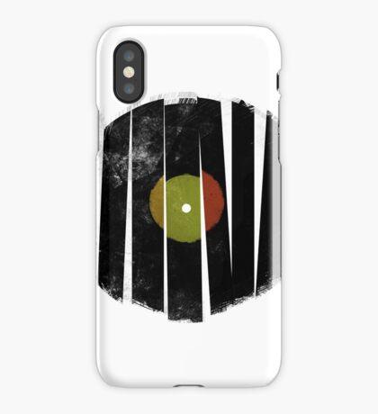 Cool Broken Vinyl Record Grunge Vintage iPhone Case/Skin