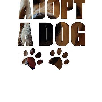 Adopt a Dog T-Shirt by Diversite